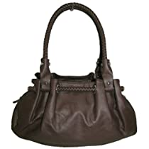 Hot Sale Braided Satchel Hobo Handbag (Dark Brown)