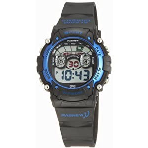 Fashion LED Waterproof Sports Wrist Digital Watches for Teens Boys Girls (Blue)