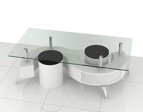 Designer S Shape Coffee Table White Cheap Coffee Tables