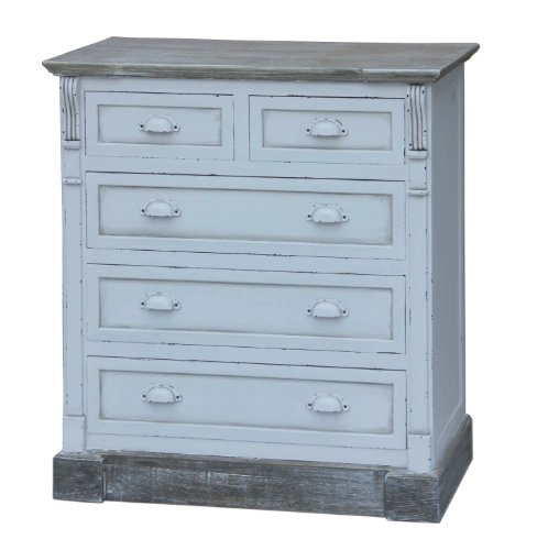 WHITE SHABBY CHIC VINTAGE FRENCH STYLE 3 + 2 CHEST OF DRAWERS BEDROOM FURNITURE
