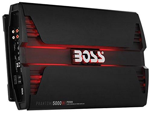 BOSS AUDIO PD5000 Phantom 5000-Watt Monoblock, Class D 1-8 Ohm Stable Monoblock Amplifier with Remote Subwoofer Level Control