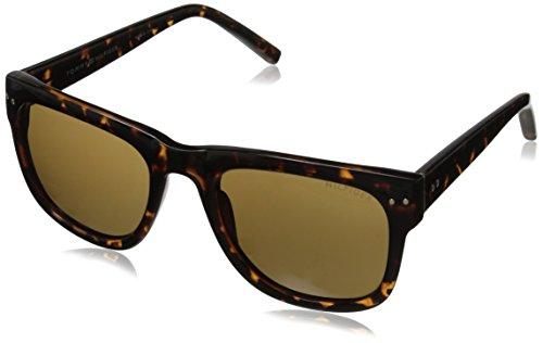 Tommy Hilfiger Men'S Ths 153 Wayfarer Sunglasses, Tortoise, 53 Mm