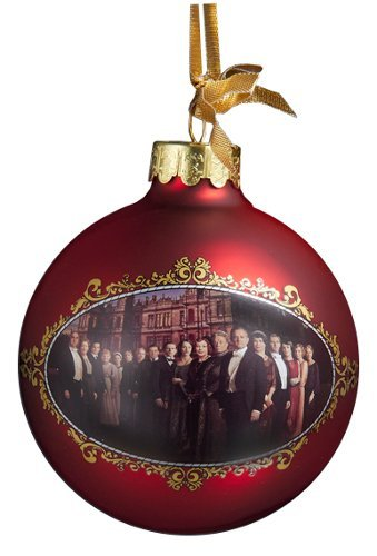 Downton Abbey BBC Television Season 3 Red Glass Ball Christmas Ornament