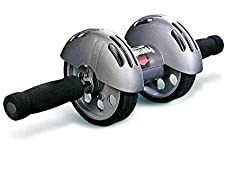 Diswa Sports Body Building Gym Power Roller Waist Abdomen Muscle Training Wheel AB Roller Exercise Massage Fitness Equipment