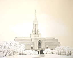 LDS Boutiful Utah Temple Drawing 16x20''