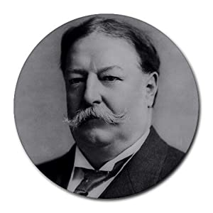 com : President William Howard Taft round mouse pad : Office Products