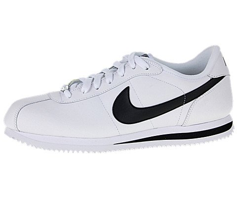 Buy Nike Men's NIKE CORTEZ BASIC LEATHER '06 CASUAL SHOES 11 Men US (WHITE/BLACK/METALLIC SILVER)