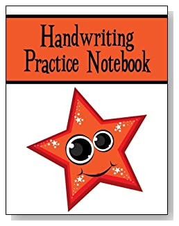 Handwriting Practice Notebook For Kids - A cute smiling star with big eyes and twinkles makes a fun cover for this handwriting practice notebook for younger kids.