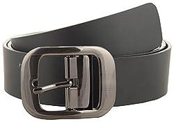 Jackblack Men's Leather Belt (SEVP017, Black, 30)