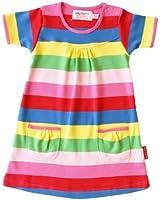 Toby Tiger Baby Girl's Organic Short Sleeved T-Shirt Stripe Dress