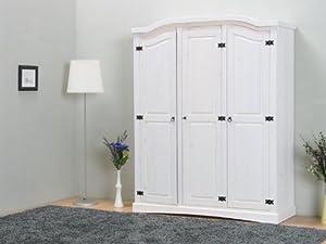 3trg massiv Kiefer Mexico Kleiderschrank New Mexiko SchlafzimmerSchrank weiß  Kundenbewertung und weitere Informationen