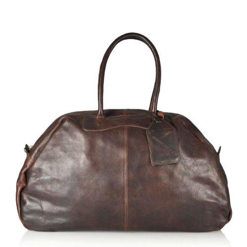 Chicago Reisetasche von Cowboysbag in Braun