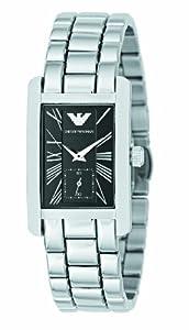 Emporio Armani AR0157 Ladies Classic Black Silver Watch