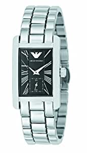 Emporio Armani AR0157 Ladies Classic Black Silver Watch