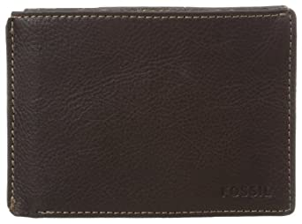 Fossil Men's Mercer International Slim Bifold Wallet, Brown, One Size