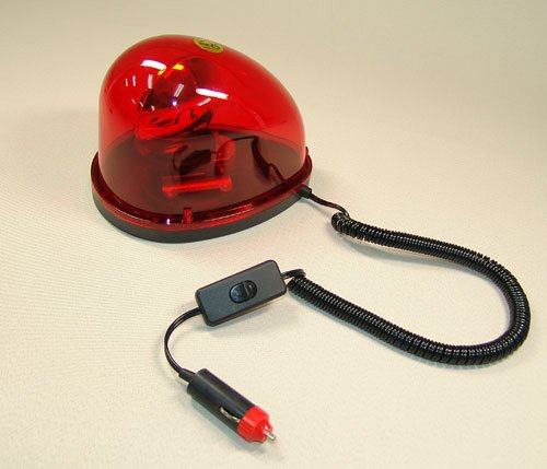 回転灯 パトランプ 赤 12V用[D121R]