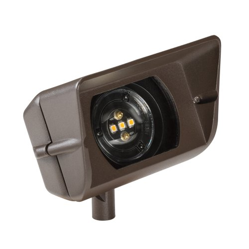 Kichler Lighting 16070Bbr27 Design Pro 12W 12V 2700K Led Wall Wash, Bronzed Brass Finish