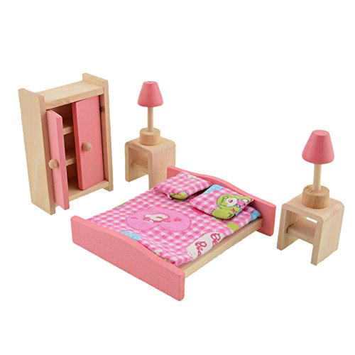 dollhouse bedroom set vktech wooden dollhouse funiture kids child