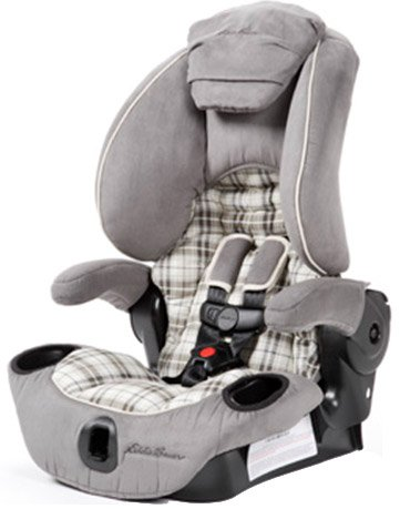 Baby's Store |   Eddie Bauer Adjustable High Back Booster Car Seat :  booster high bauer back