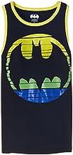 Batman Boys' T-Shirt (BM0DBT595_7 - 8 years_Black)