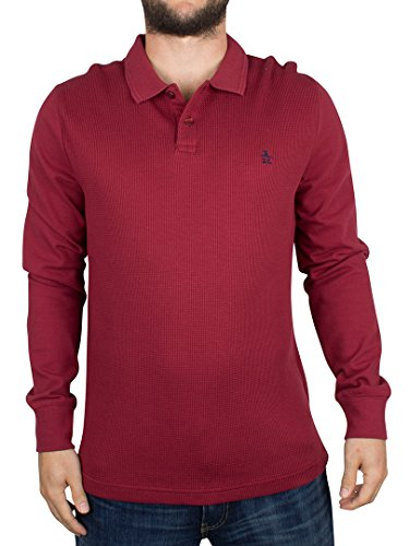 original-penguin-uomo-shirt-maniche-lunghe-winston-polo-rosso-large