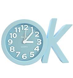 BestGot Desktop Clock OK Fashion Digital Alarm Clock For kids Girls Adult SC5010 (OK Blue)