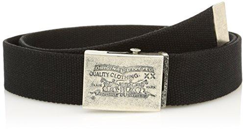 Levi's two horse pull plaque webbing-Cintura Unisex - Adulto    Nero (Regular Black) 110 cm