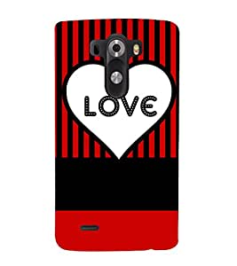 love quote cover 3D Hard Polycarbonate Designer Back Case Cover for LG G3 :: LG G3 D855
