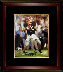 Matthew Stafford signed Georgia Bulldogs 8x10 Photo Custom Framed- Stafford Hologram