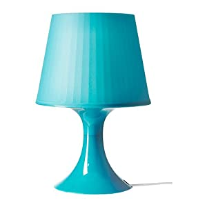 Table lamp, turquoise