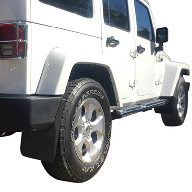 Premium Heavy Duty Molded 2007-2016 Jeep Wrangler JK JKU Mud Flaps Guards Splash Flares Front Rear 4pc Set (Mud Flap Jeep Wrangler compare prices)