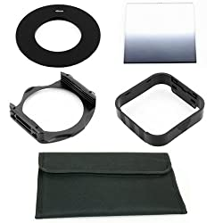 49mm Ring Adapter+Gradual ND2 Filter+Holder+Hood+4 Pocket Pouch for Cokin P