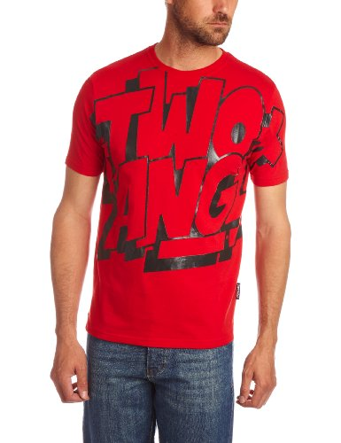 Two Angle Coloss Printed Men's T-Shirt Red X Large