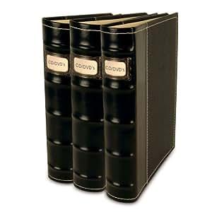 Bellagio-Italia CD/DVD Storage Binders-3 Pack Black