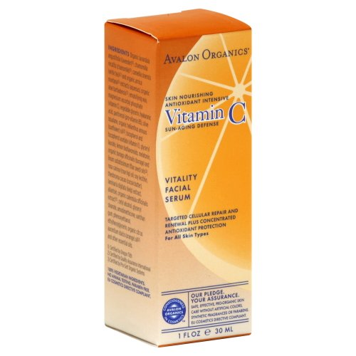 Avalon Organics Vitamin C Vitality Facial Serum 1 Oz (Pack Of 12)