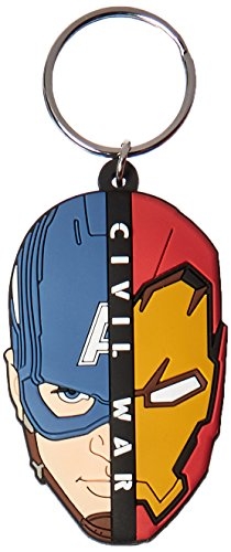 Marvel Captain America Civil War Split Head Soft Touch PVC Portachiavi