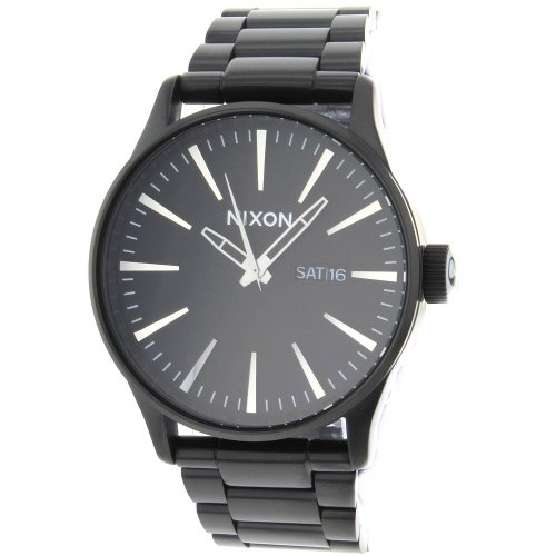 Nixon Men's A356001-00 Black Stainless-Steel Quartz Watch with Black Dial