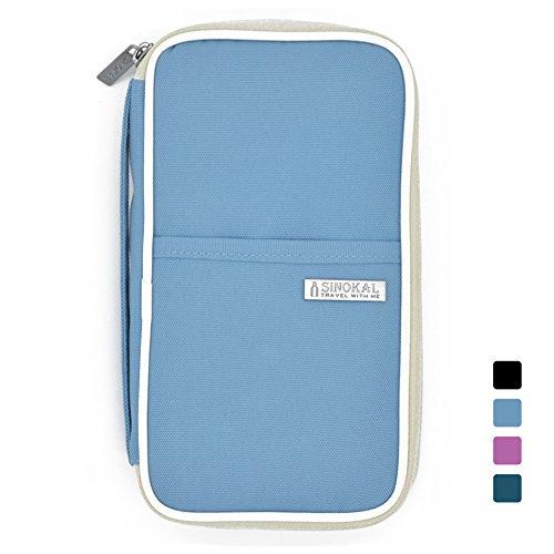 sinokal-passport-wallet-organizer-waterproof-travel-bag-sky-blue