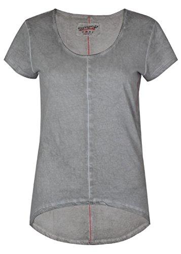 trueprodigy -  T-shirt - Collo a U  - Donna grigio scuro S