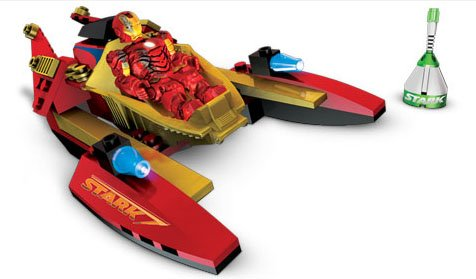 Mega Bloks Ironman 2 Vehicle/Fig Mark 3 Battle damage