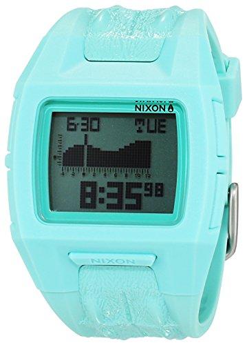 Nixon Lowdown S Light Blue Not Croc A3641975-00 - Reloj unisex, correa de plástico color azul