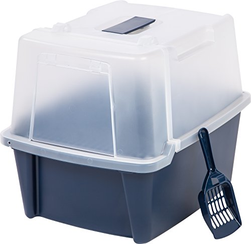 Iris Large Split Hood Litter Box With Scoop And Grate