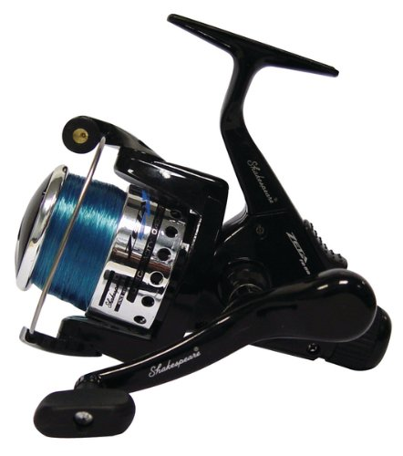 Shakespeare Zeta Rear Drag Reel 050 Size - Black/Silver, 386 G