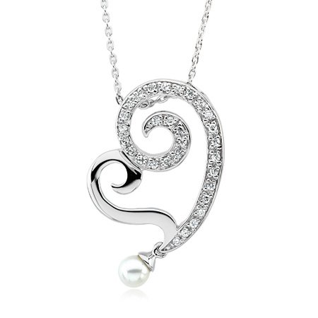 The Black Bow - Young at Heart Silver Necklace