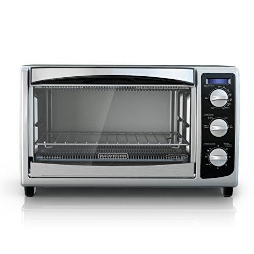 BLACK+DECKER TO1675B 6-Slice Convection Countertop Toaster Oven, Includes Bake Pan, Broil Rack & Toasting Rack, Stainless Steel/Black Convection Toaster Oven (Electric Small Oven compare prices)