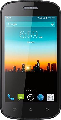 "POSH Mobile Kick Lite S410 4.0"" Android phone GSM Unlocked Ultra Slim HD Display with 4GB Bluetooth 4G HSDPA+ WIFI + Cellular smartphone 4.4 Kit Kat Dual SIM Dual-Core Black"