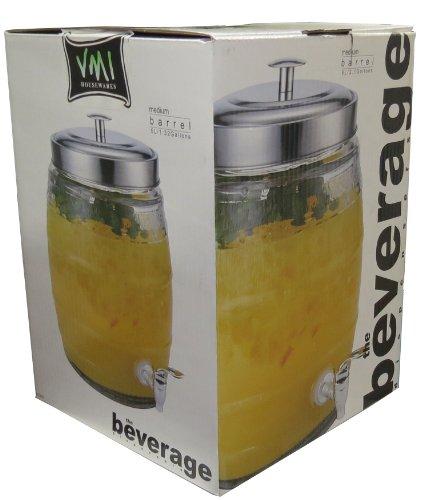 VMI Housewares VMI Housewares G-01995 Yorskshire Beverage Mason Jar, 8-Liter,Clear Glass