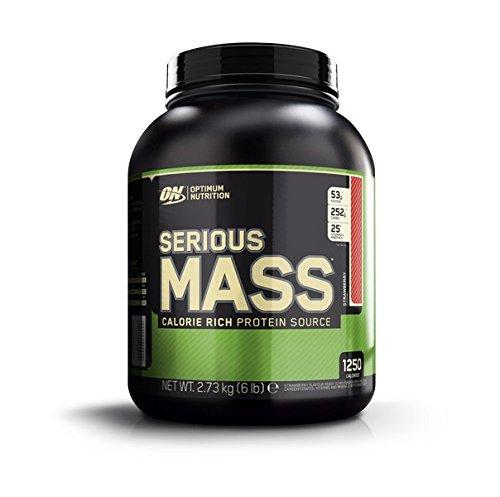 Optimum Nutrition Serious Mass Suplemento para Deportistas, Sabor de Fresa - 2727 gr