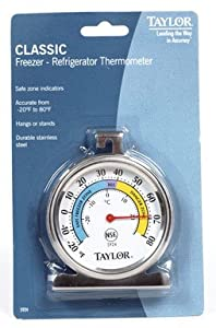 Taylor Food Service Classic Series Freezer-refrigerator Thermometer Large Dial from Taylor