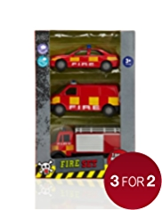 3 Fire Vehicles Set
